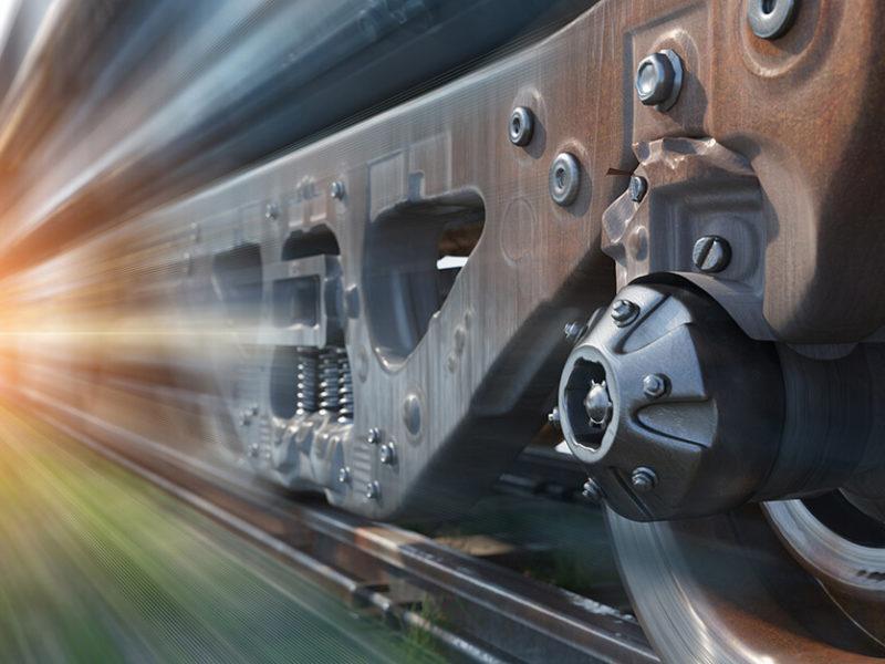 Train Going Fast Movement Rail