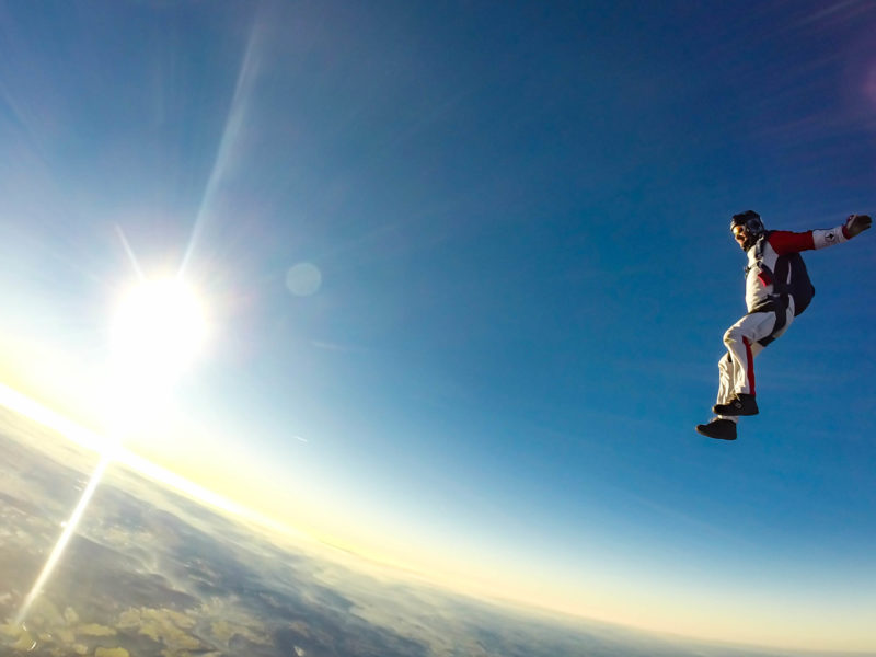 Sky Diving Free Falling Horizon by filipe dos santos mendes on unsplash